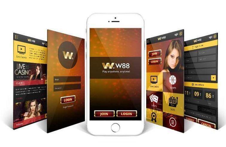 Interface di aplikasi seluler W88 image 4